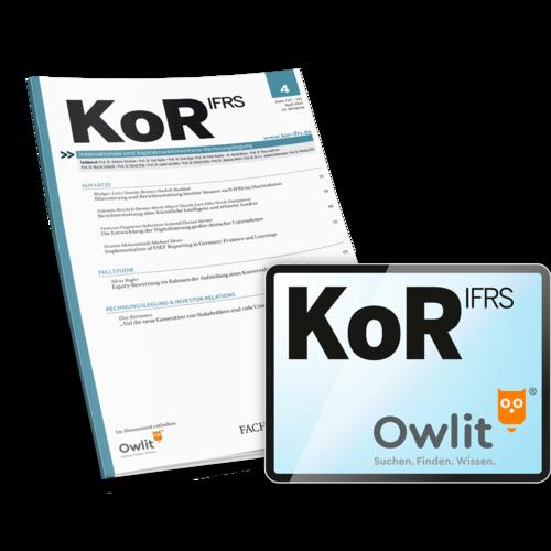 KoR - Zeitschrift für internationale und kapitalmarktorientierte Rechnungslegung
