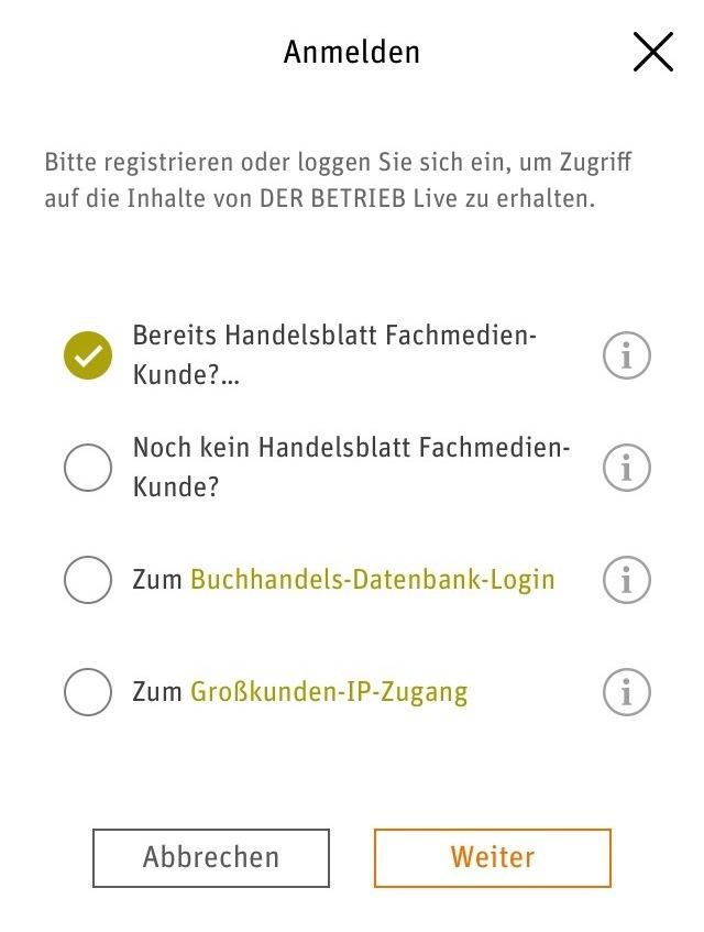 Der Betrieb Live App Registrierung Handelsblatt Fachmedien